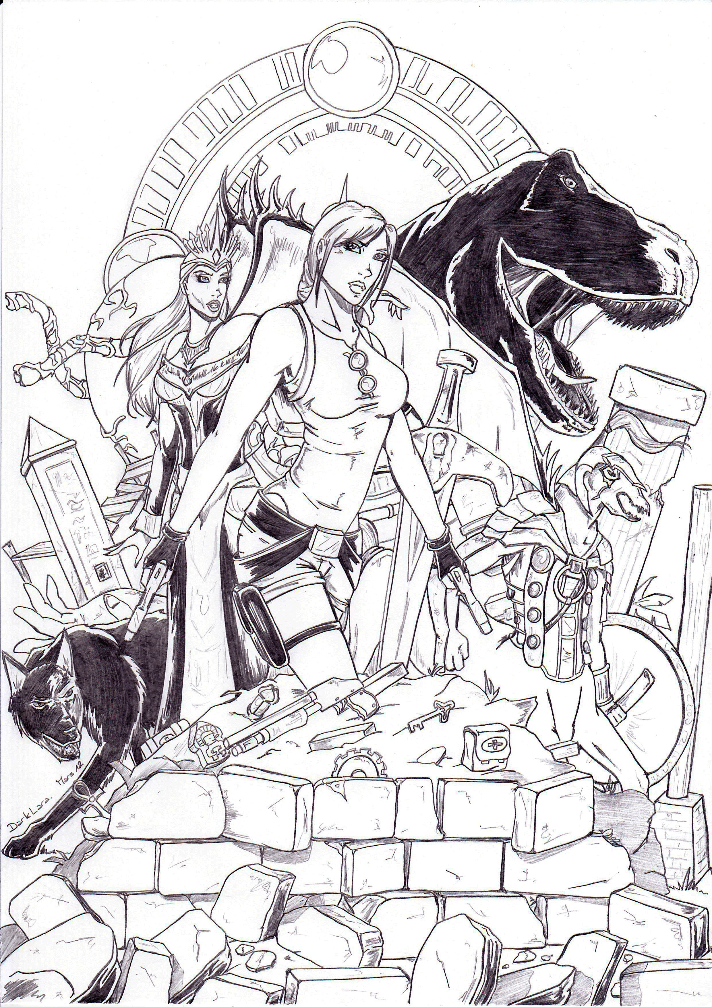 an other i would like to make all the jackets of videogames its the first - Lara Croft Coloring Pages
